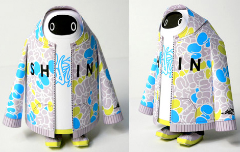 One of Shin Tanaka's T-BOYs with a hood