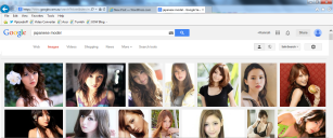 japanese model google search
