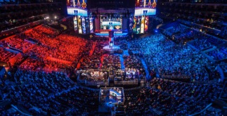 An esport crowd in South Korea