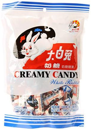 What we ate: White Rabbit Creamy Candy